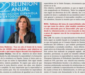 Entrevista a la Dra. Leonor Muelas y al Dr. Moon en 'Dentista Moderno'