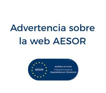 Advertencia sobre la web AESOR